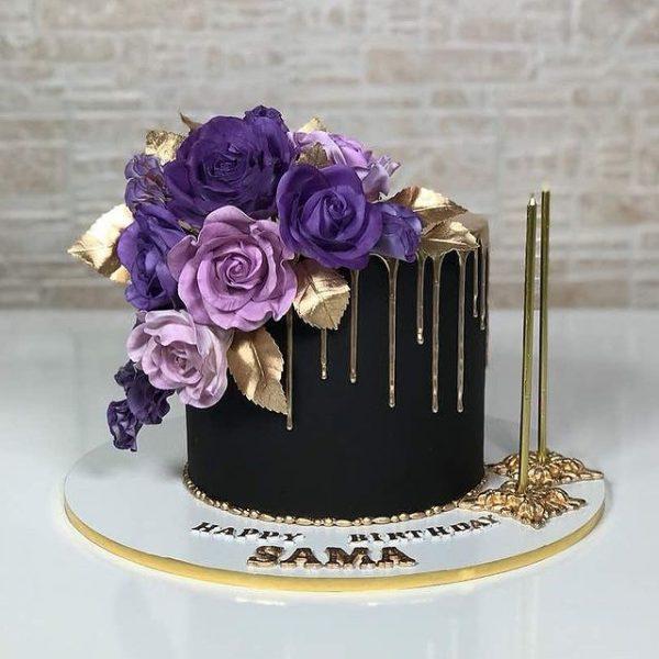 ارسال کیک به ایران – کیک زنانه – کیک برای خانم ها – طرح زنانه – کیک فوندانت – ارسال هدیه به ایران –کیک برای خانم ها