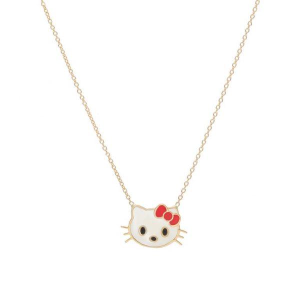 گردنبند طلا- ارسال هدیه به تهران- ارسال هدیه به ایران- گردنبند طلا کودک- گردنبند هلو کیتی