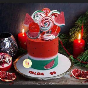 ارسال هدیه به ایران – کیک- شب یلدا – کیک یلدایی –تم یلدا – ارسال هدیه به ایران – ارسال کیک به ایران – شب یلدا –بلند ترین شب سال – حافظ –انار –تم یلدا
