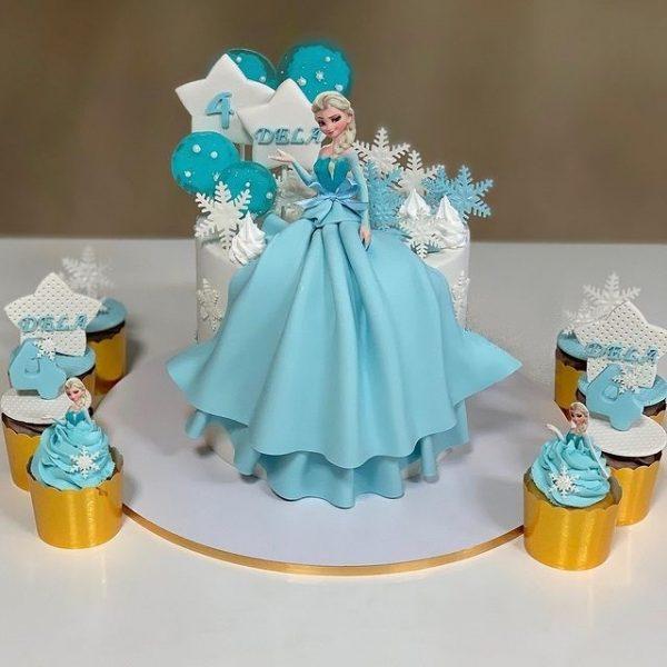 ارسال کیک به ایران – کیک کودکانه – کیک پرنسس السا – السا – کیک فوندانت – ارسال هدیه به ایران –کیک کودکانه – تولد –هدیه –ارسال هدیه به ایران-دخترانه-کیک دخترانه