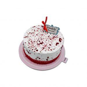 کیک تولد- ارسال هدیه به تهران- ارسال هدیه به ایران- تبریک تولد- کیک کیک رد ولوت(Red velvet)